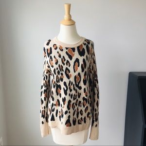 A New Day Leopard Print Sweater, Size Large